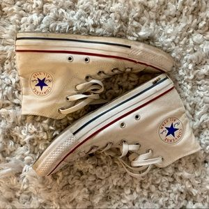 White Converse All Stars - Size 7 High-Tops